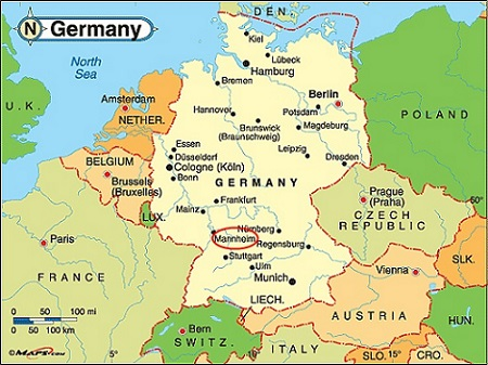 Map Of Germany Mannheim.Location Icwi 2016